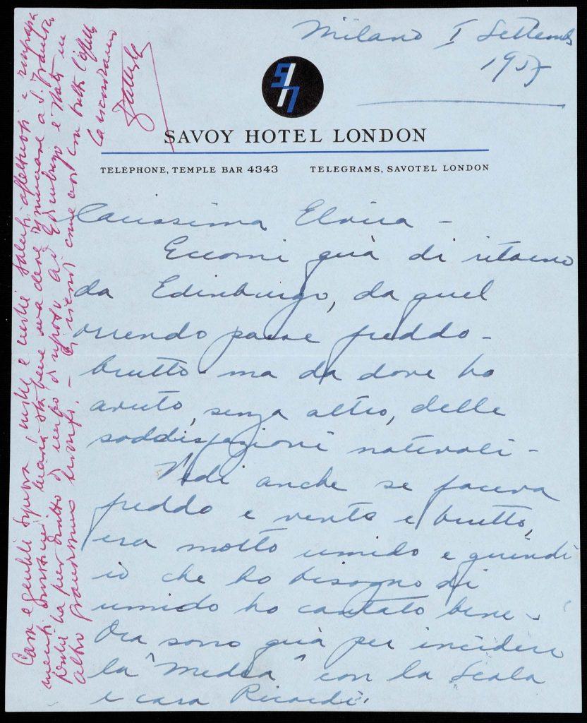 lettera Maria Callas