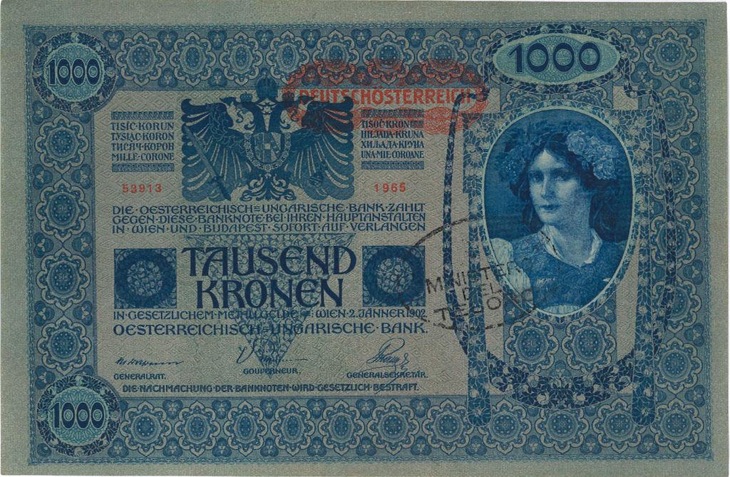 Banconota 1000 corone
