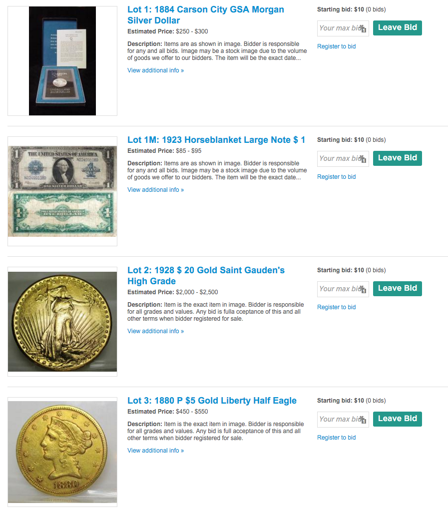 Friday Nite Coin and Bullion Sale- Gold-Silver- Coins