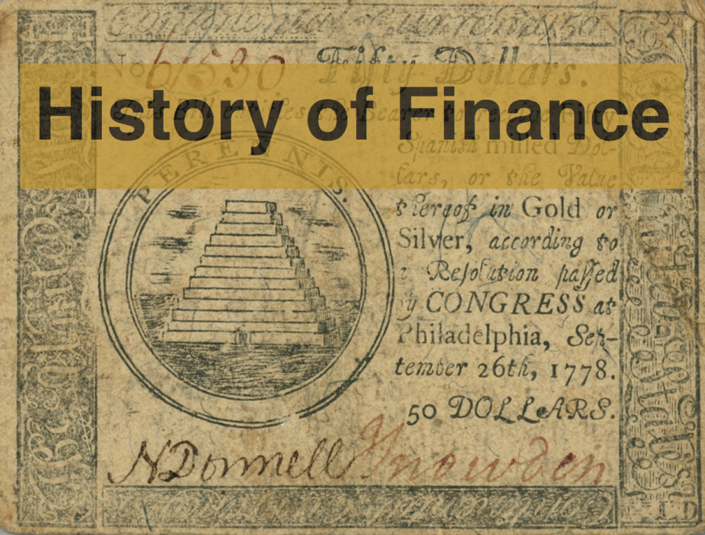 history of finance