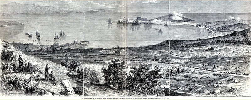 Gaeta assediata 1861