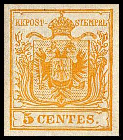 StampLombardiaVenetia1850Michel1