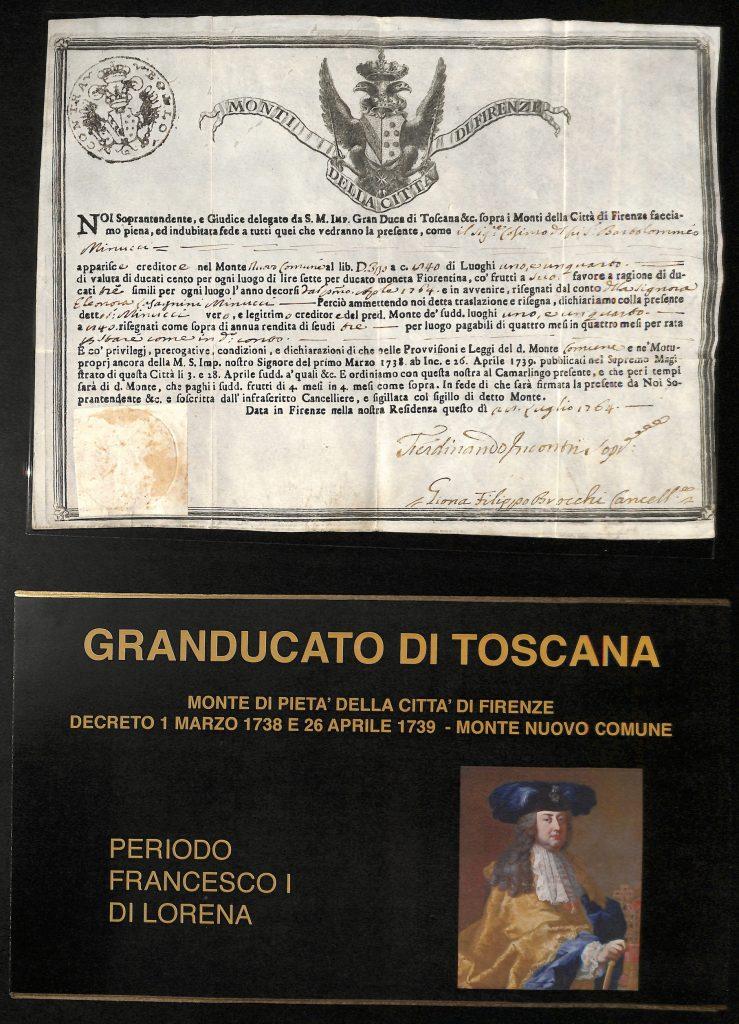 Scheda Gran Ducato di Toscana