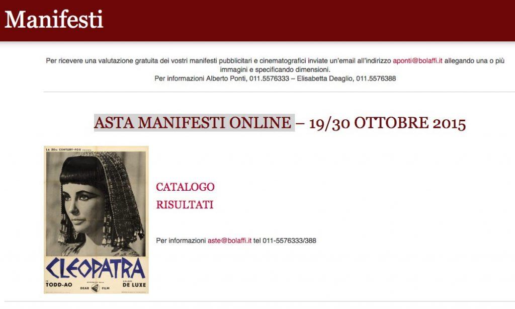 Bolaffi manifesti online
