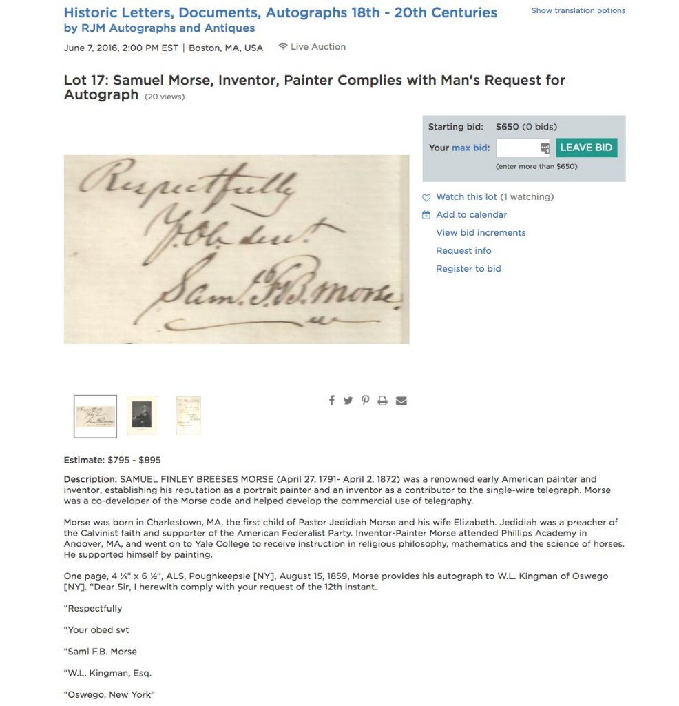 Historic Letters, Documents, Autographs 18th