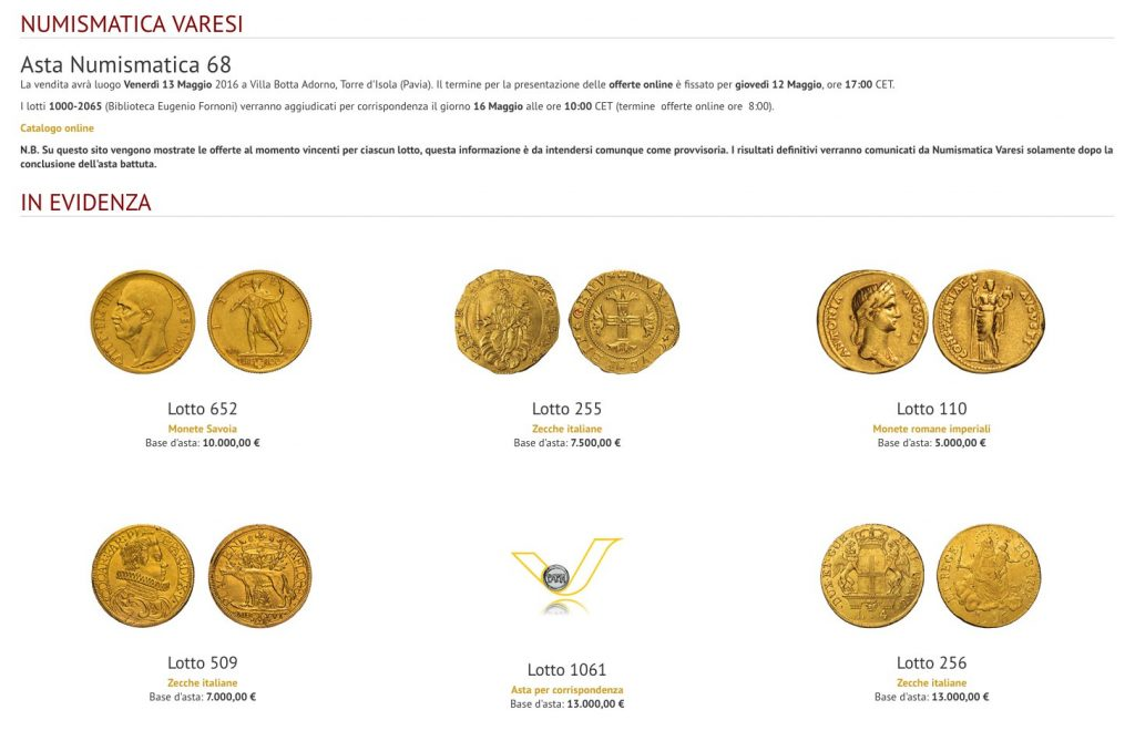 Numismatica Varesi