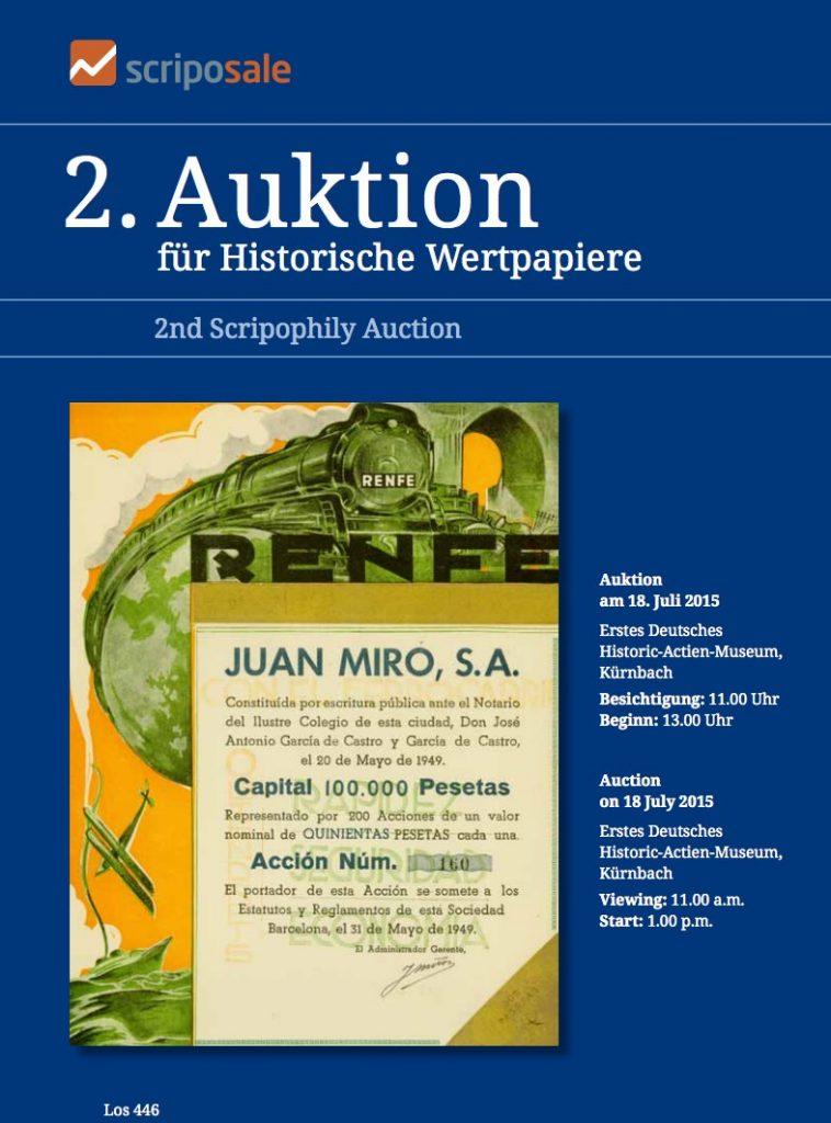 Auktion Historische Wertpapiere