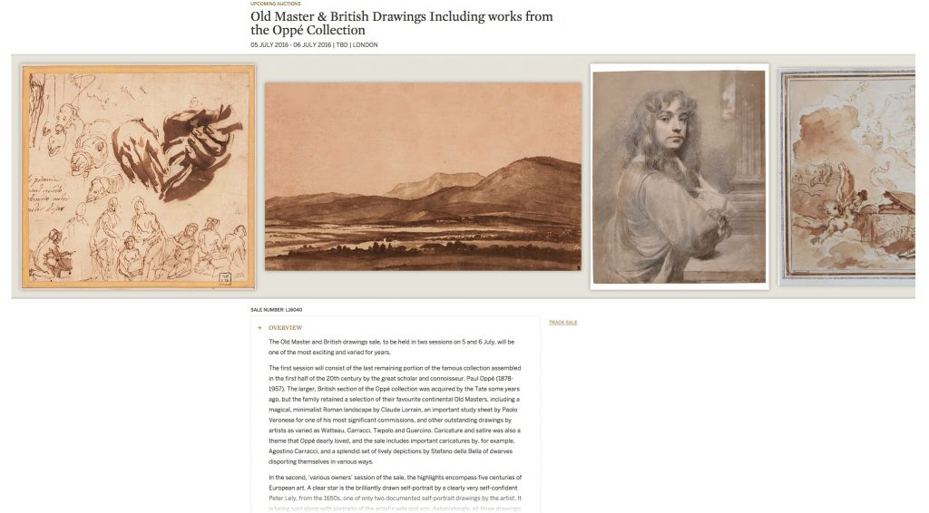 Old Master & British Drawings Including works from the Oppé Collection