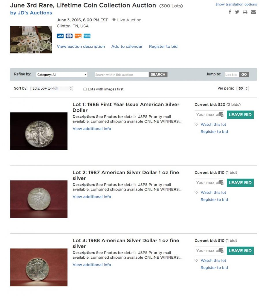une 3rd Rare, Lifetime Coin Collection Auction