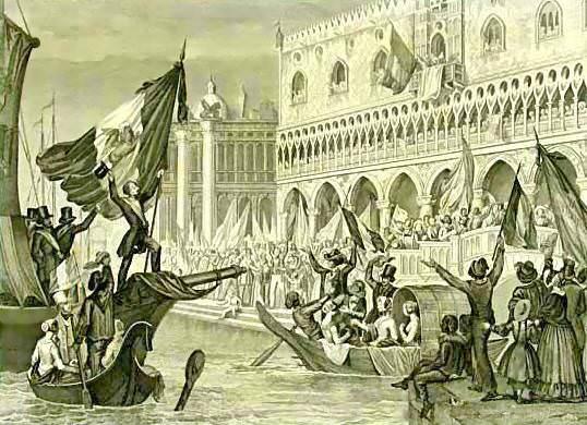 Sanesi_-_La_proclamazione_della_Repubblica_di_San_Marco,_Marzo_1848_-_litografia_-_ca._1850