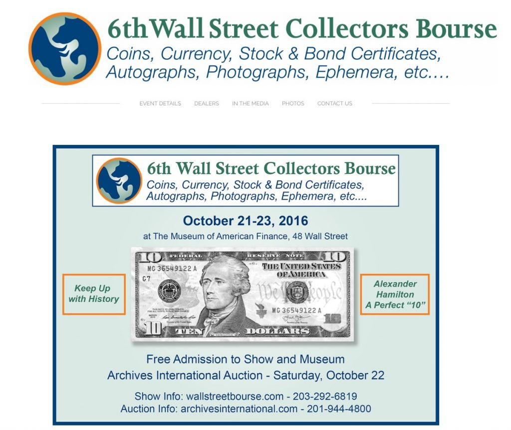 Wall Street Collectors Bourse