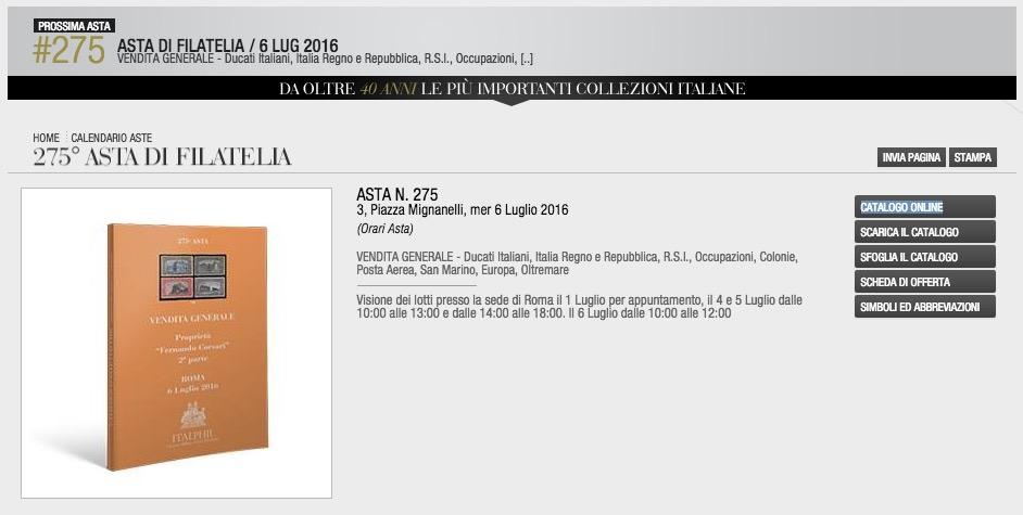Asta Filatelia italPhil