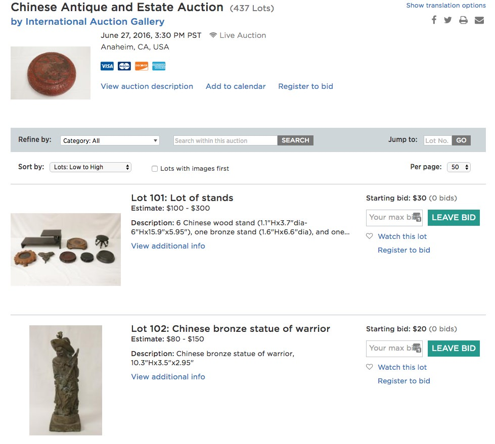 International Auction Gallery