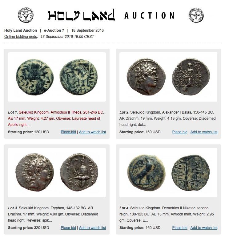 Holy land auction