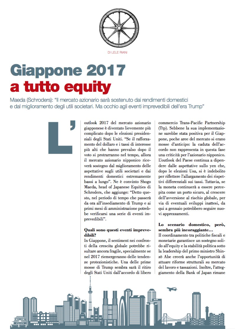 Giappone 2017 a tutto equity