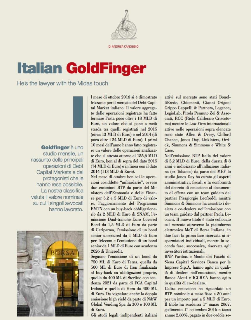 Italian GoldFinger di Andrea Canobbio