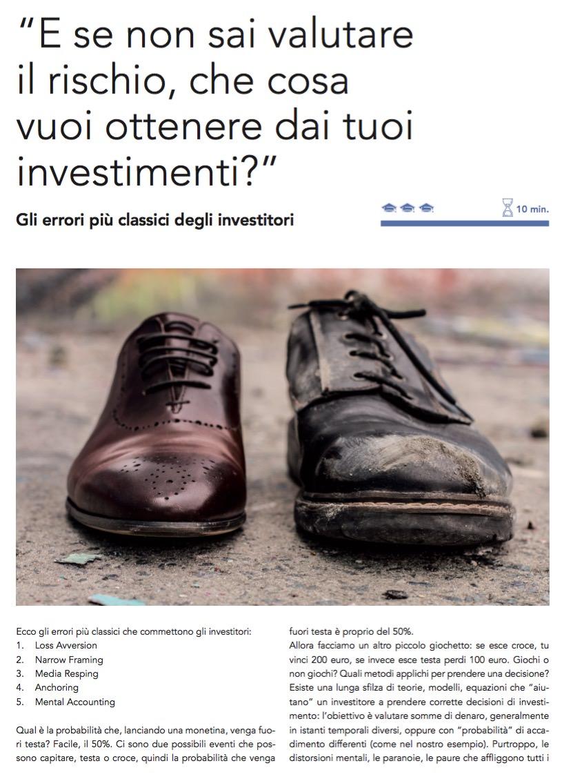 """""""E se non sai valutare il rischio, che cosa vuoi ottenere dai tuoi investimenti?"""" di Gabriele Galletta"""