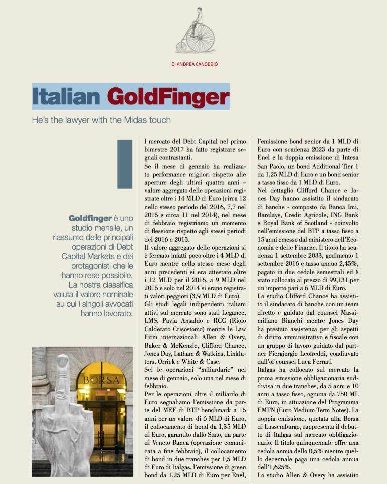 Italian GoldFinger
