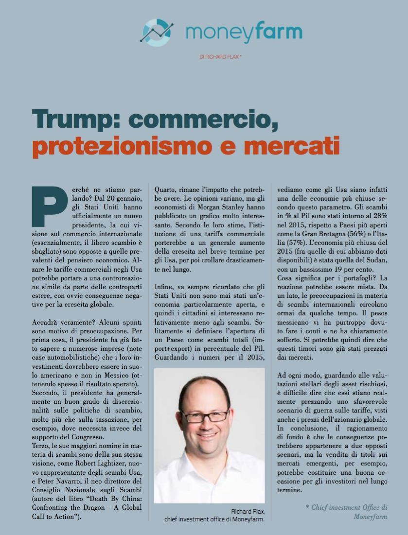 Trump: commercio, protezionismo e mercati