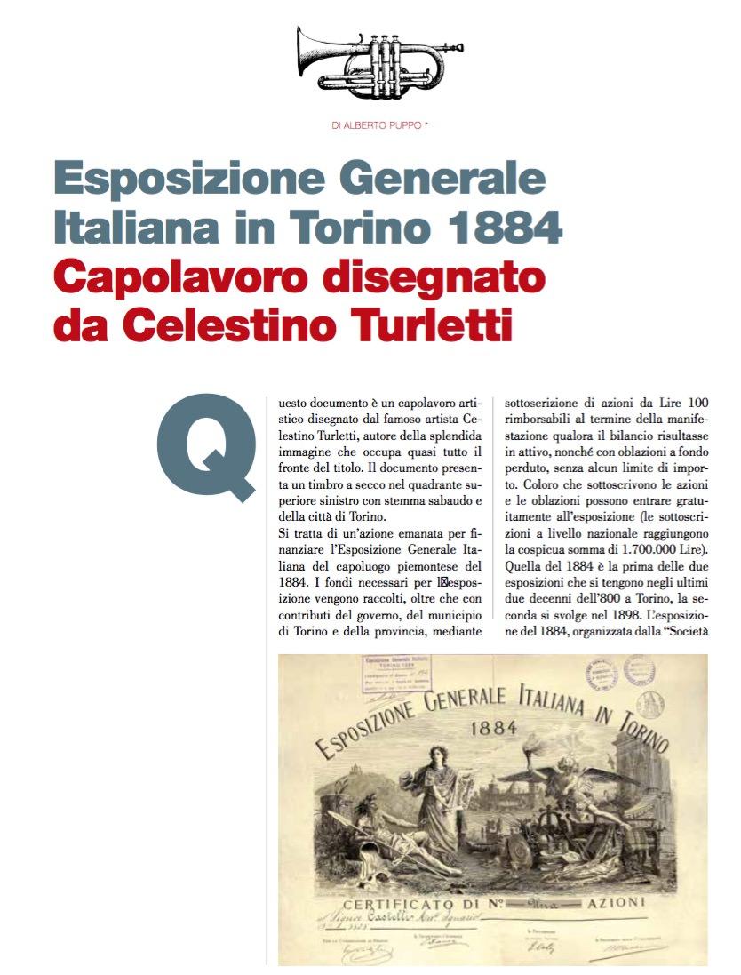 Esposizione Generale Italiana in Torino 1884 Capolavoro disegnato da Celestino Turletti