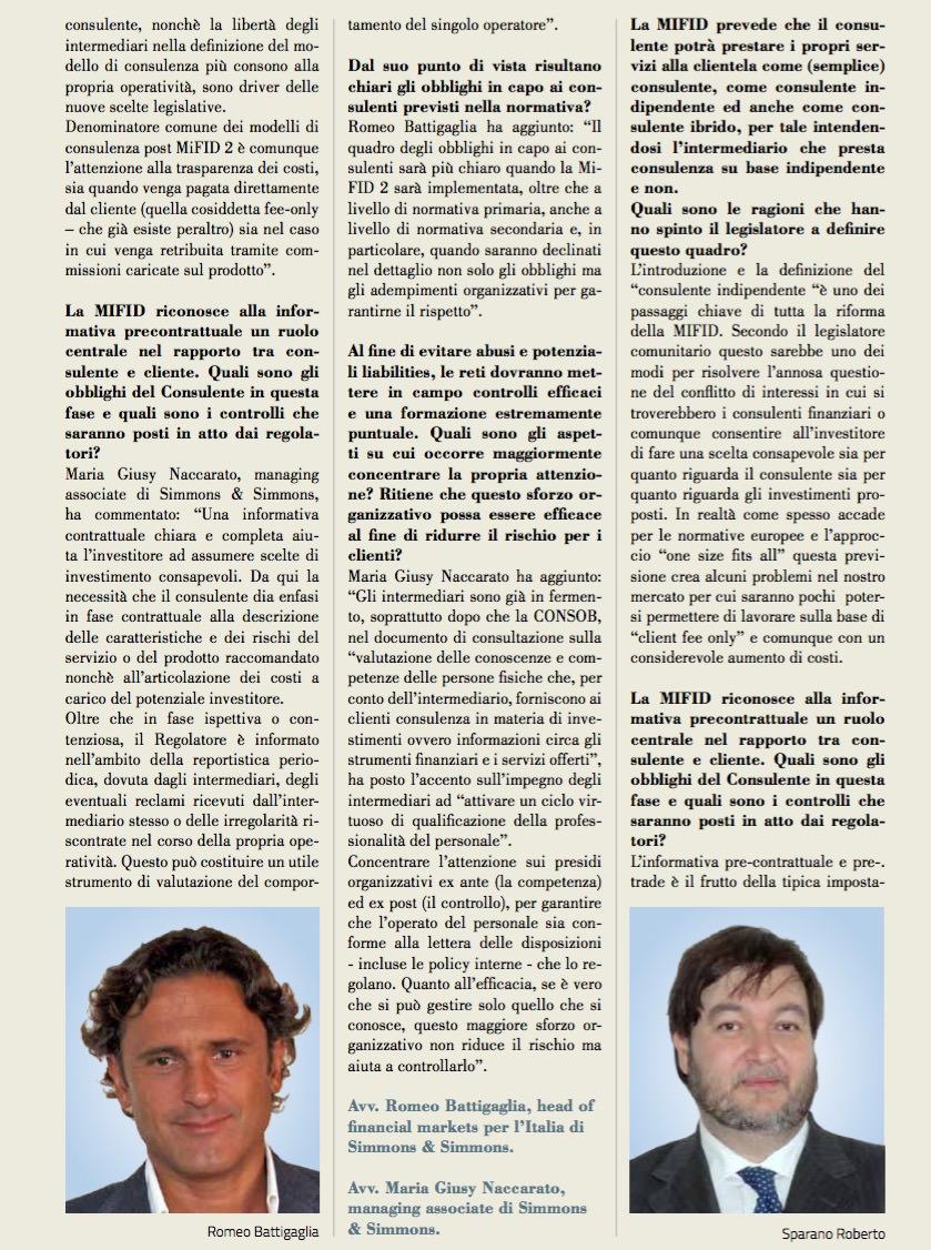 MIFID II l'attività dei promotori cambierà in modo signi cativo